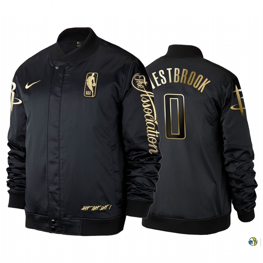 Survetement NBA Houston Rockets NO.0 Russell Westbrook Noir