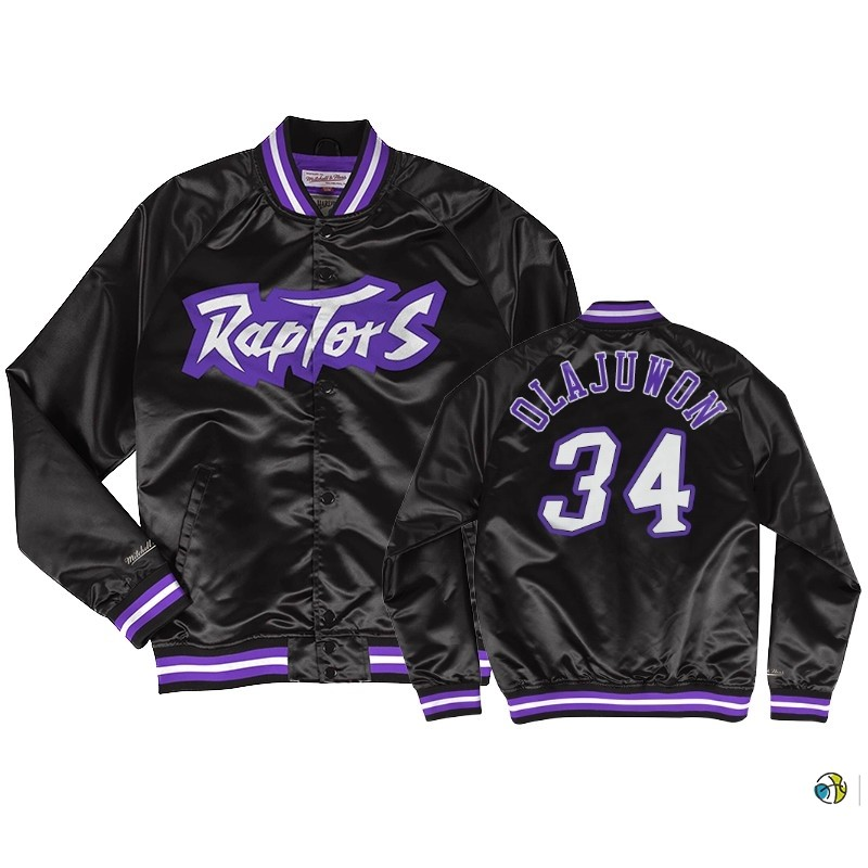 Survetement NBA Toronto Raptors NO.34 Hakeem Olajuwon Noir