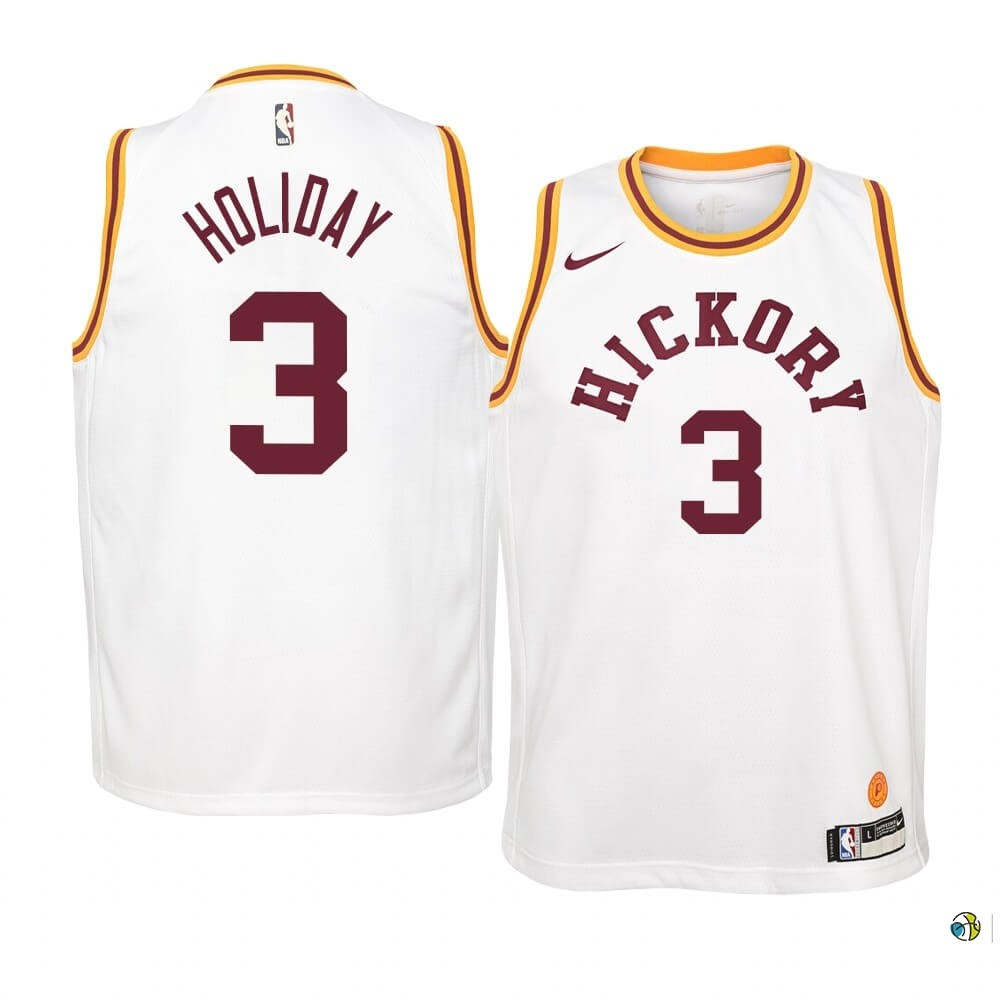 Maillot NBA Enfant Indiana Pacers NO.3 Aaron Holiday Nike Retro Blanc