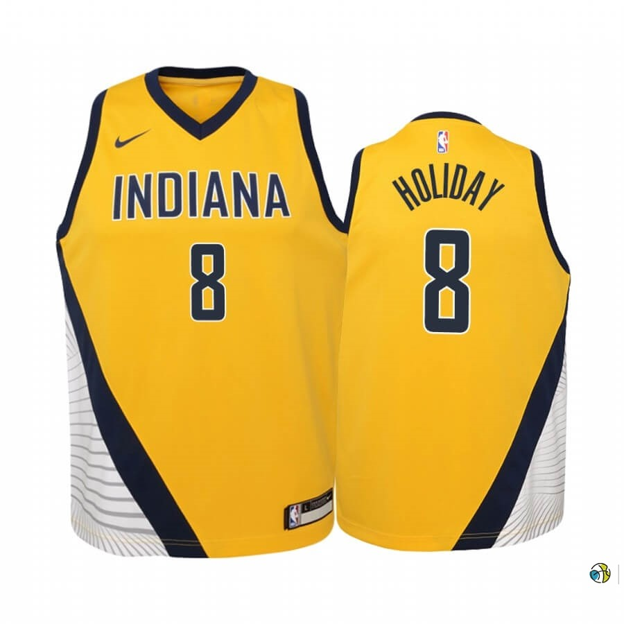 Maillot NBA Enfant Indiana Pacers NO.9 T.J. McConnell Nike Retro Blanc
