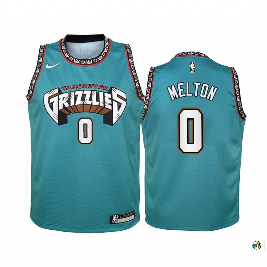 Maillot NBA Enfant Memphis Grizzlies NO.0 De'Anthony Melton Vert Hardwood Classics