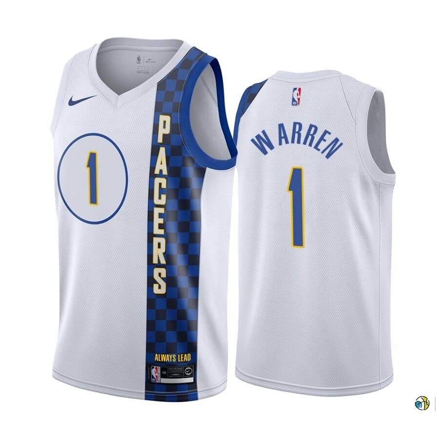 Maillot NBA Nike Indiana Pacers NO.1 T.J. Warren Nike Blacno Ville 2019-20