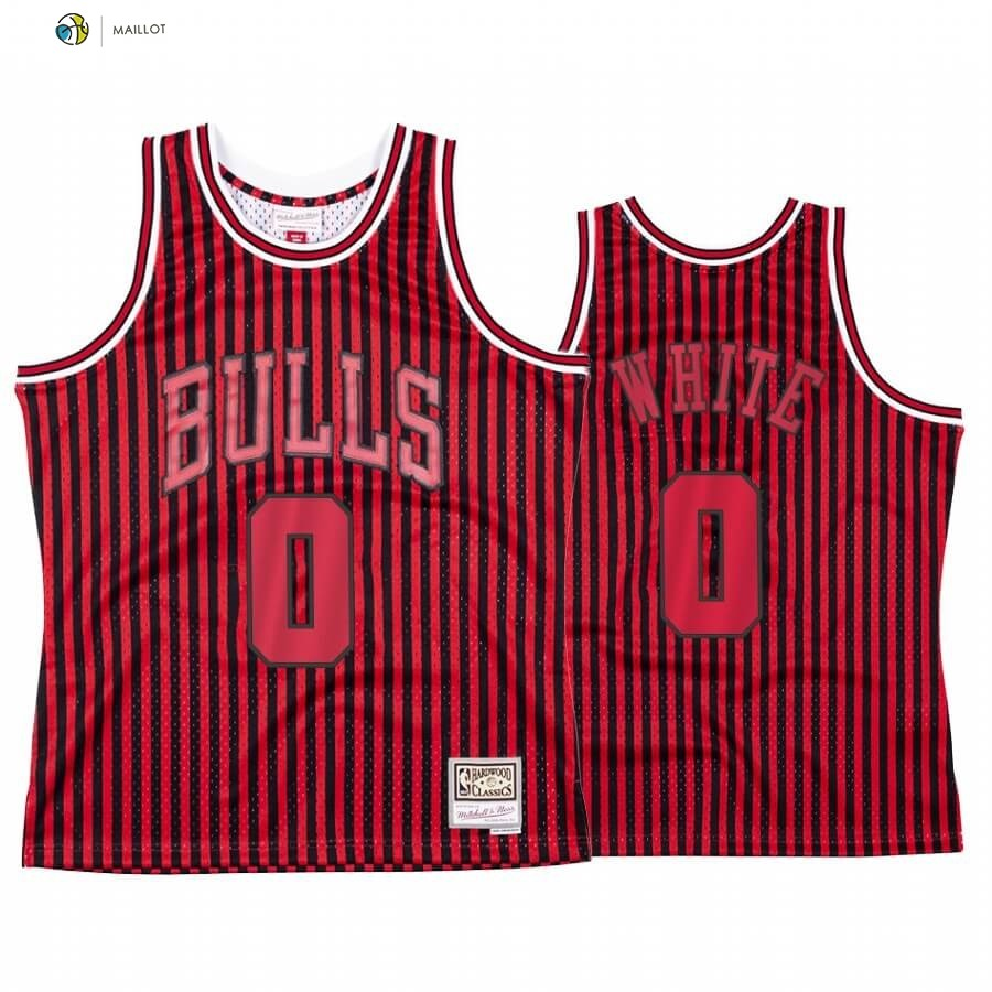 Maillot NBA Chicago Bulls Independence Day NO.0 Coby White Rouge Hardwood Classics