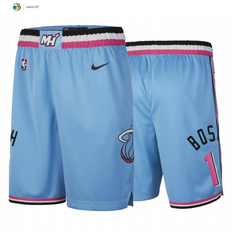 Pantalon NBA Miami Heat Nike NO.1 Chris Bosh Nike Bleu Ville