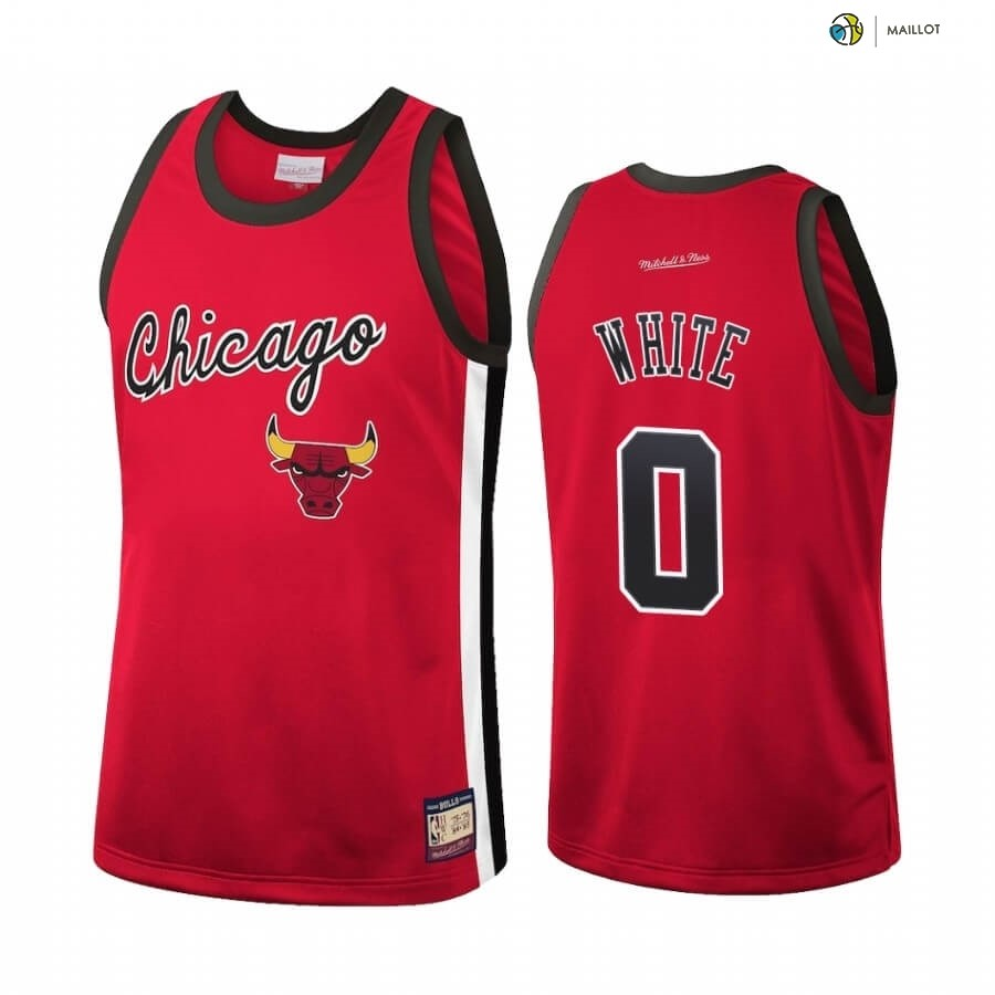 Maillot NBA Chicago Bulls NO.0 Coby White Rouge Hardwood Classics 2020