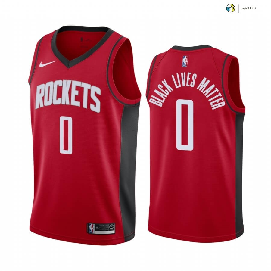 Maillot NBA Houston Rockets NO.0 Russell Westbrook Rouge Icon 2020-21