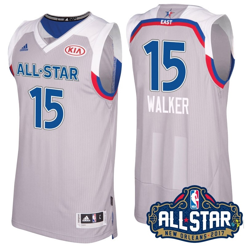 Maillot NBA 2017 All Star NO.15 kemba Walker Gray