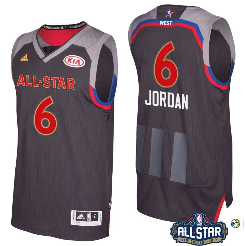 Maillot NBA 2017 All Star NO.6 Deandre Jordan Charbon