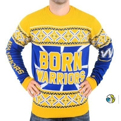 Unisex Ugly Sweater Golden State Warriors Jaune