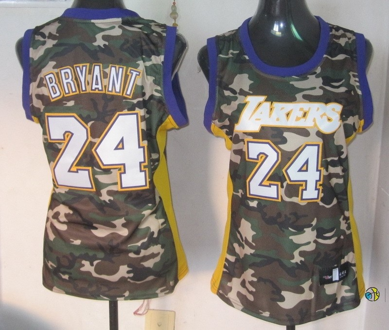 Maillot NBA Femme 2013 Camouflage Fashion NO.24 Bryant