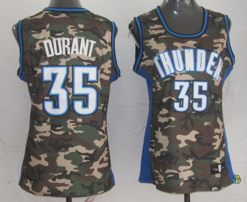 Maillot NBA Femme 2013 Camouflage Fashion NO.35 Kevin Durant