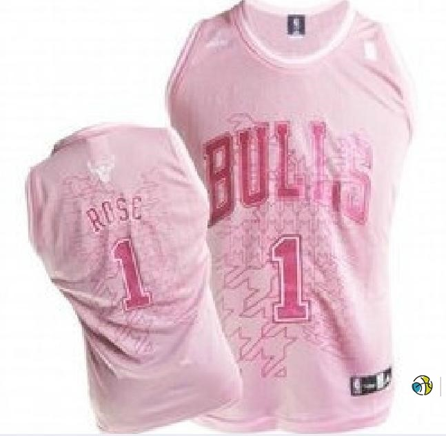 Maillot NBA Femme Chicago Bulls NO.1 Derrick Rose Rose