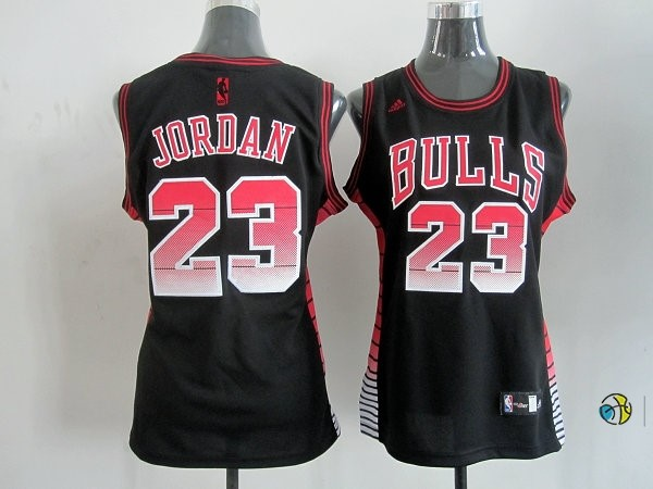 Maillot NBA Femme Chicago Bulls NO.23 Michael Jordan Noir Rouge