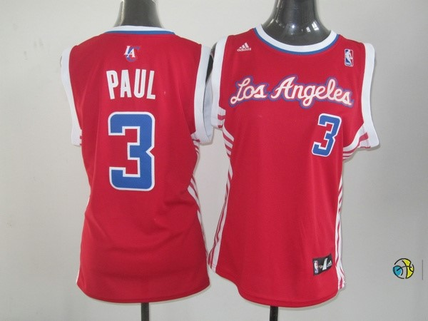 Maillot NBA Femme Los Angeles Clippers NO.3 Chris Paul Rouge