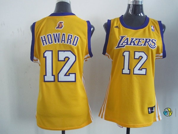 Maillot NBA Femme Los Angeles Lakers NO.12 Dwight Howard Jaune
