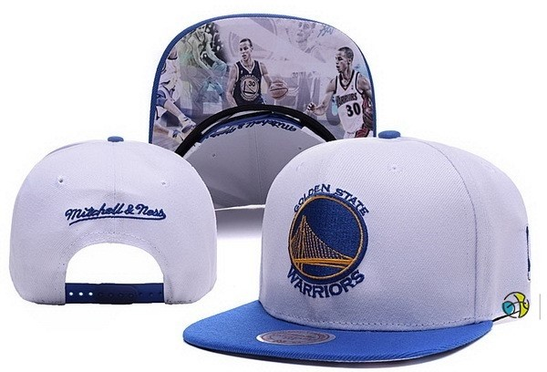 Casquette NBA 2016 Golden State Warriors Gris Bleu 001
