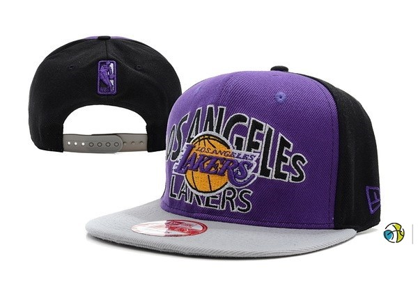 Casquette NBA 2016 Los Angeles Lakers Pourpre Gris
