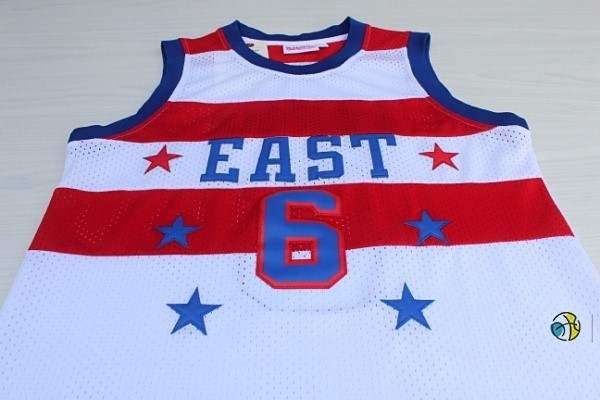 Maillot NBA 1980 All Star NO.23 Julius Winfield Erving Blanc