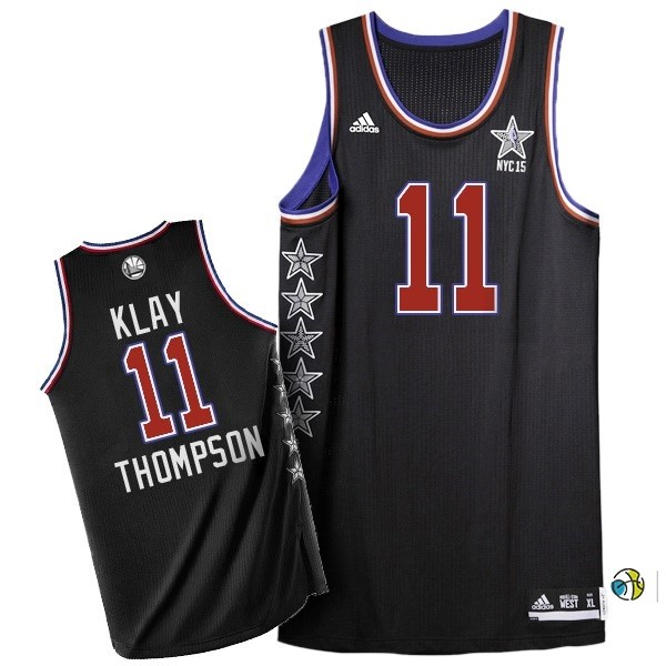 Maillot NBA 2015 All Star NO.11 Klay Thompson Noir