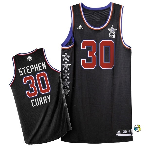 Maillot NBA 2015 All Star NO.30 Stephen Curry Noir