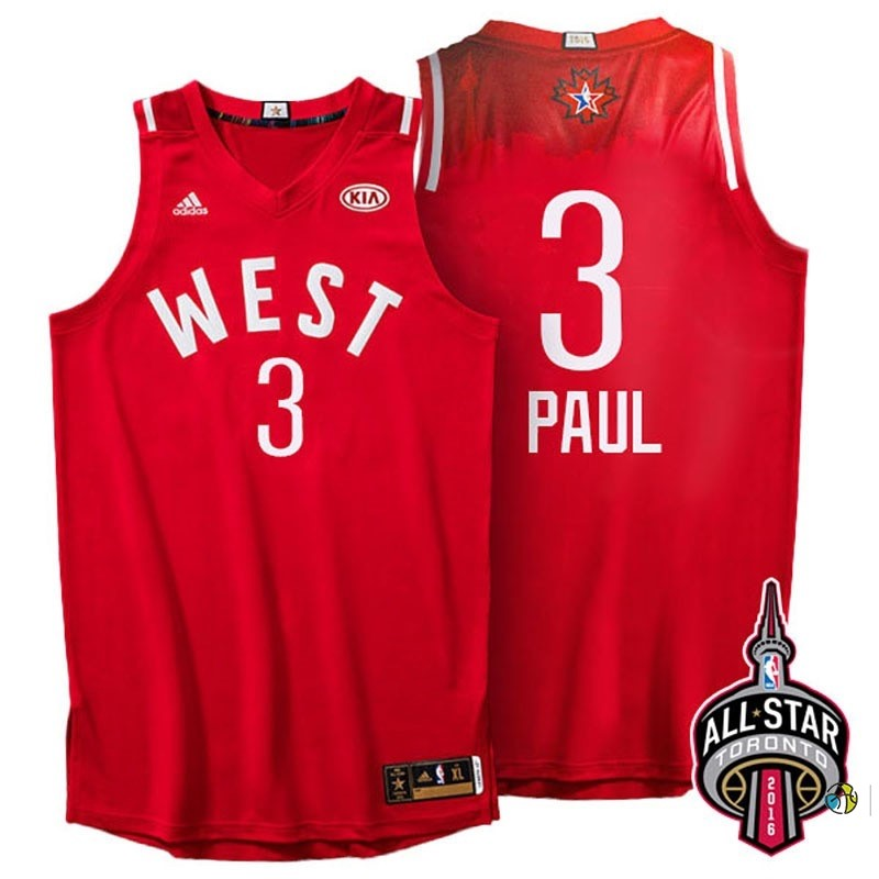 Maillot NBA 2016 All Star NO.3 Chris Paul Rouge