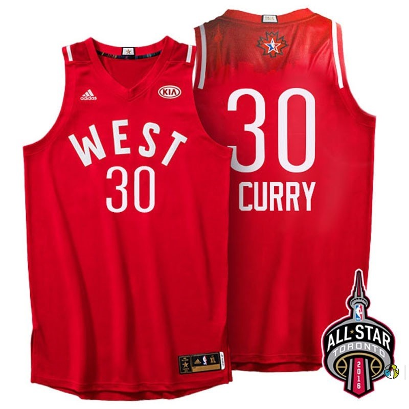 Maillot NBA 2016 All Star NO.30 Stephen Curry Rouge