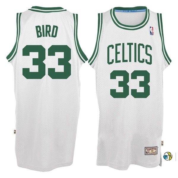 Maillot NBA Boston Celtics No.33 Larry Joe Bird Blanc
