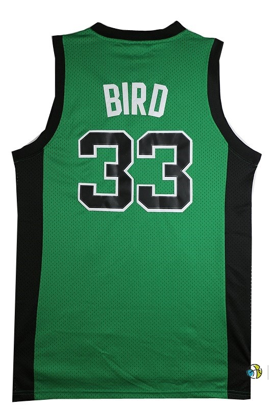 Maillot NBA Boston Celtics No.33 Larry Joe Bird Vert Noir