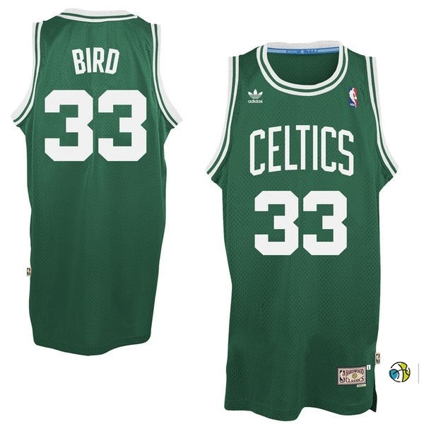 Maillot NBA Boston Celtics No.33 Larry Joe Bird Vert