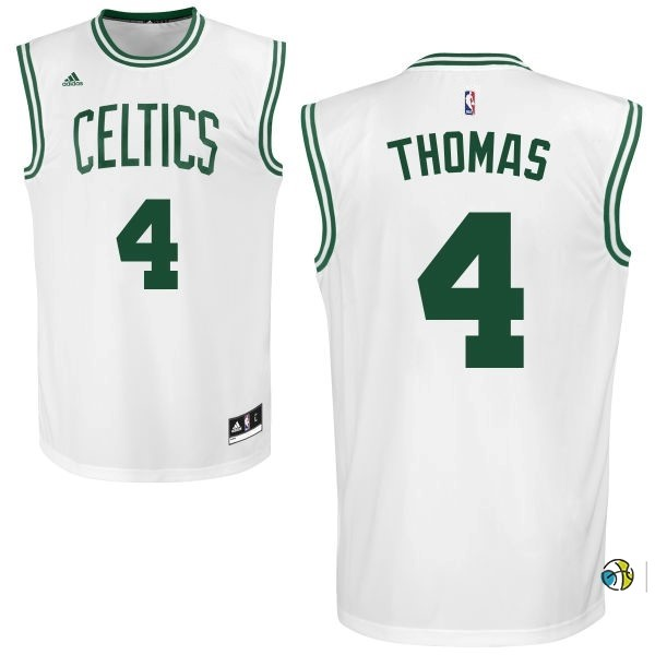 Maillot NBA Boston Celtics No.4 Isaiah Thomas Blanc