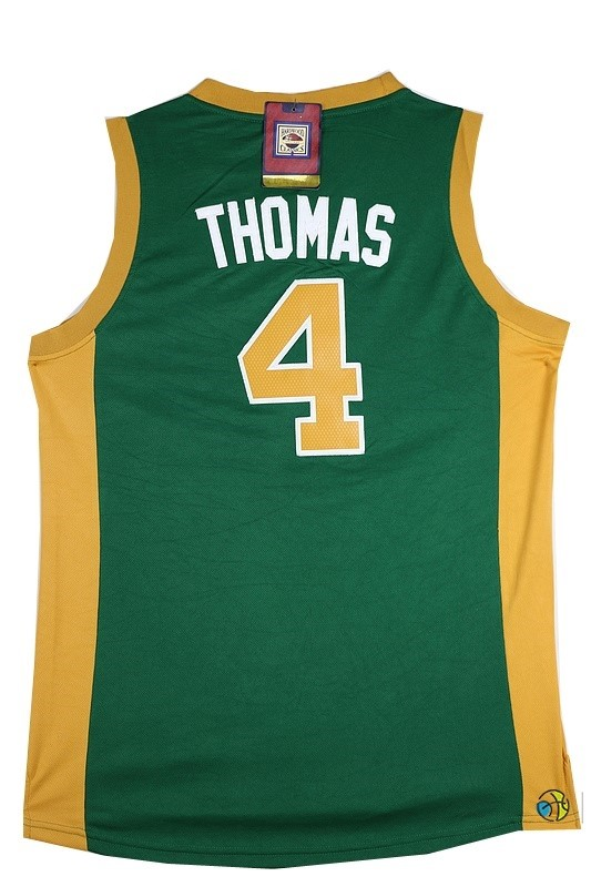 Maillot NBA Boston Celtics No.4 Isaiah Thomas Vert Orange