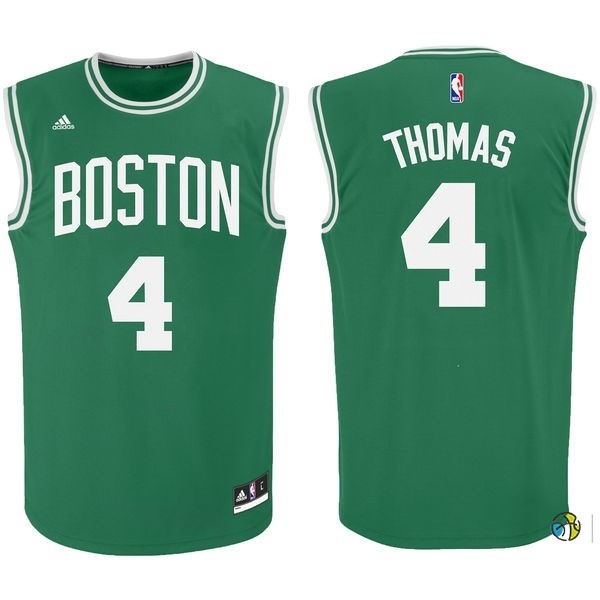 Maillot NBA Boston Celtics No.4 Isaiah Thomas Vert