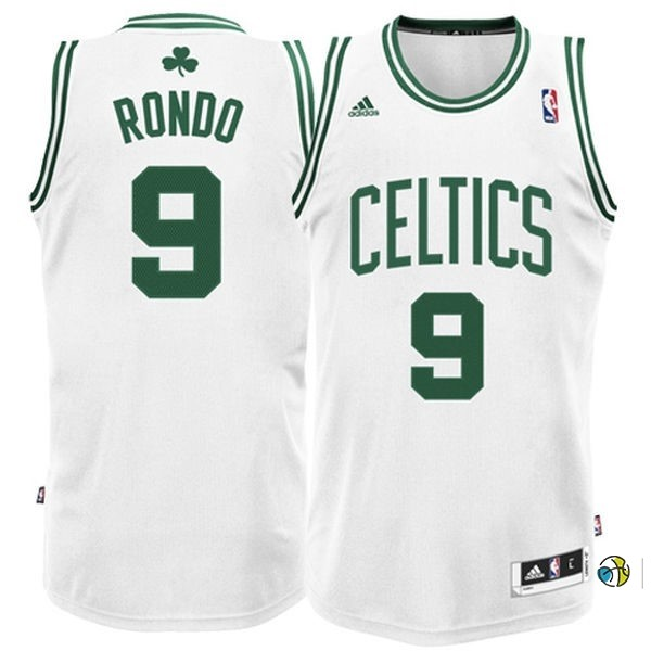 Maillot NBA Boston Celtics No.9 Rajon Rondo Blanc
