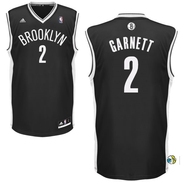 Maillot NBA Brooklyn Nets No.2 Kevin Garnett Noir
