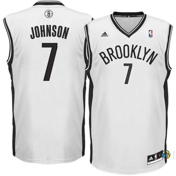 Maillot NBA Brooklyn Nets No.7 Earvin Johnson Blanc
