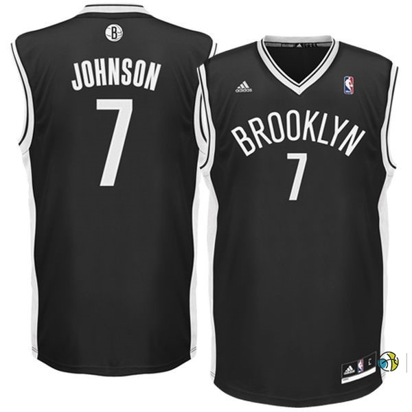 Maillot NBA Brooklyn Nets No.7 Earvin Johnson Noir