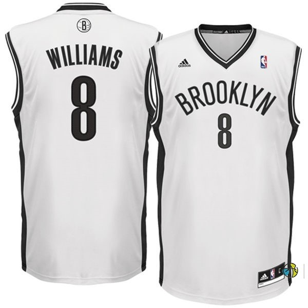 Maillot NBA Brooklyn Nets No.8 Deron Michael Williams Blanc