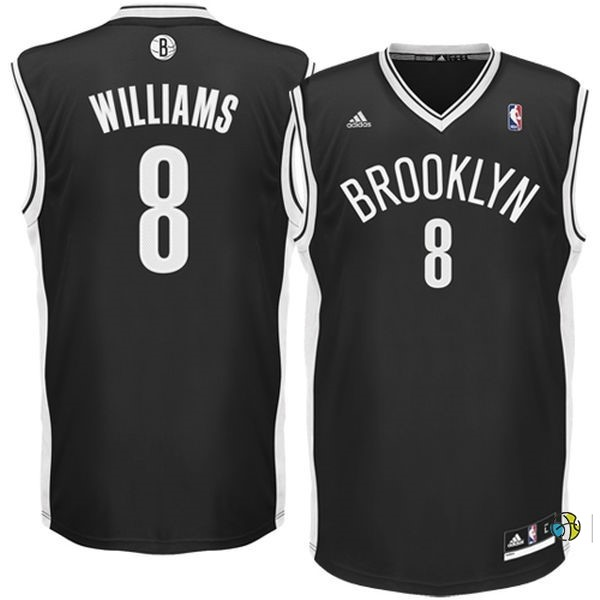 Maillot NBA Brooklyn Nets No.8 Deron Michael Williams Noir