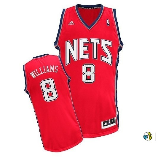 Maillot NBA Brooklyn Nets No.8 Deron Michael Williams Rouge