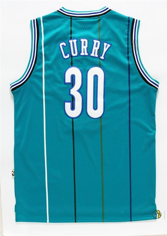 Maillot NBA Charlotte Hornets NO.30 Wardell Stephen Curry Vert