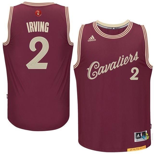 Maillot NBA Cleveland Cavaliers 2015 Noël NO.2 Irving Rouge