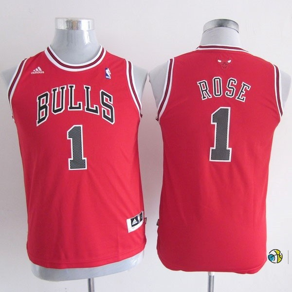 Maillot NBA Enfant Chicago Bulls NO.1 Derrick Rose Rouge