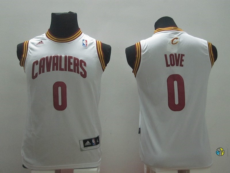 Maillot NBA Enfant Cleveland Cavaliers NO.0 Kevin Love Blanc