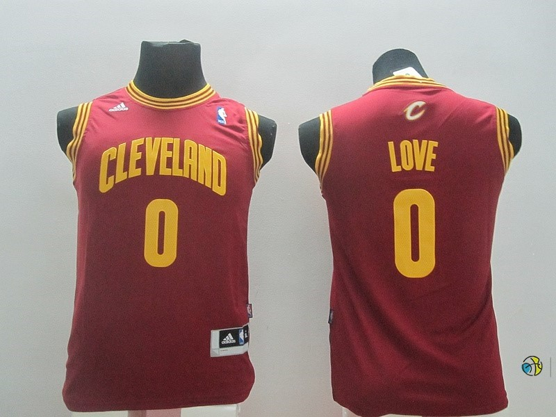 Maillot NBA Enfant Cleveland Cavaliers NO.0 Kevin Love Rouge