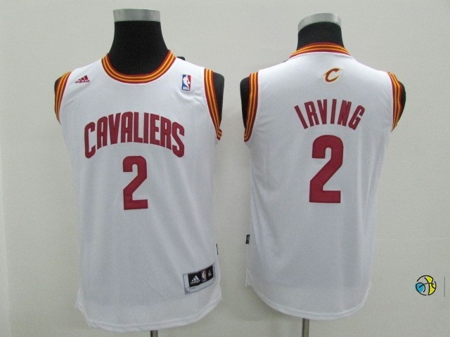 Maillot NBA Enfant Cleveland Cavaliers NO.2 Kyrie Irving Blanc