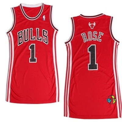 Maillot NBA Femme Chicago Bulls NO.1 Derrick Rose Rouge