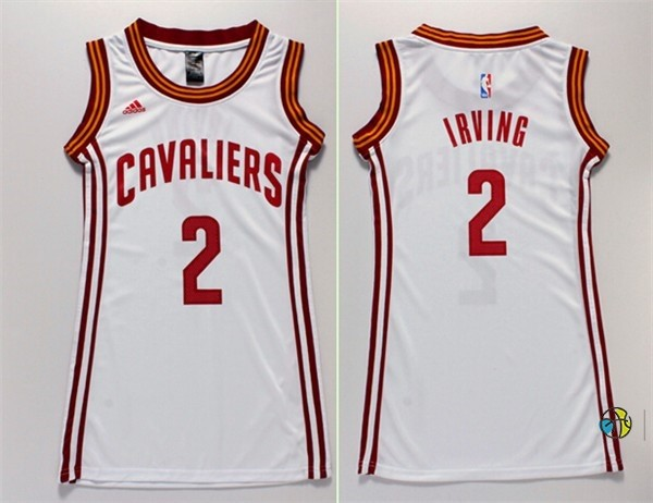 Maillot NBA Femme Cleveland Cavaliers NO.2 Kyrie Irving Blanc