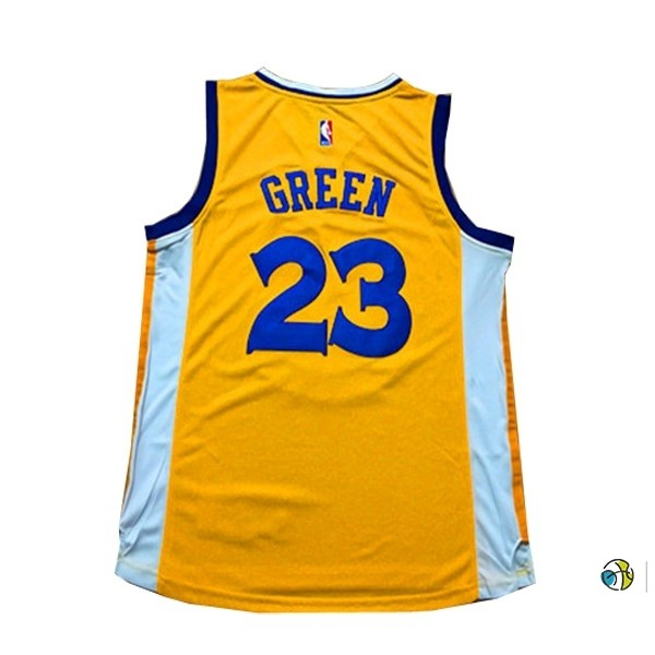 Maillot NBA Femme Golden State Warriors NO.23 Draymond Green Jaune
