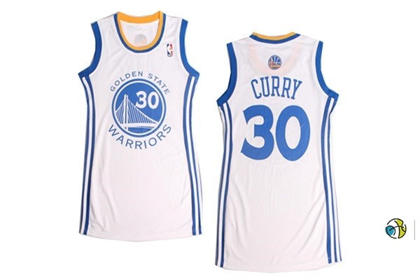 Maillot NBA Femme Golden State Warriors NO.30 Stephen Curry Blanc
