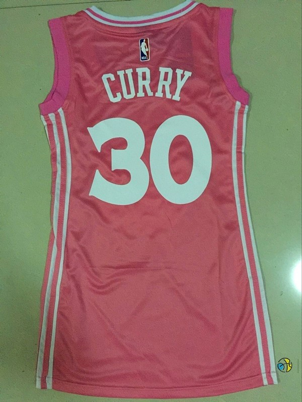 Maillot NBA Femme Golden State Warriors NO.30 Stephen Curry Rose